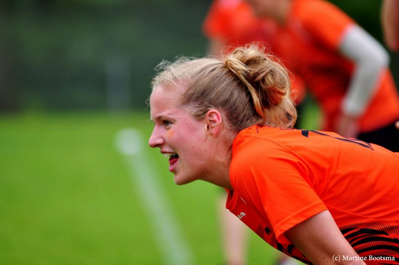 Sidelining with the Dutch National Women's Team at Windmill [Credit Martine Bootsma]